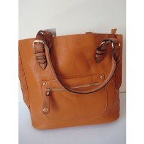 Tan Leather Travel Tote