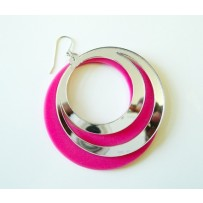 CIRCLE EARRINGS 60'S STYLE