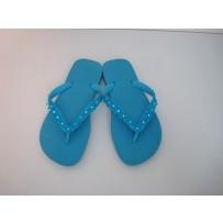 Havaiana Electric Blue Skinny Flip-Flop w/ Daisies