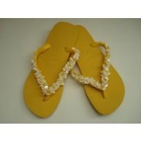 Havaiana Yellow Skinny Flip-Flop w/ Stones