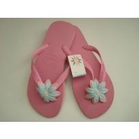 Havaiana Pink  Flop w/ Pink Flower