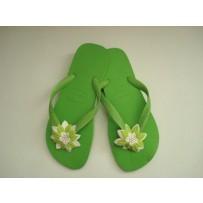 Havaiana Green  Flop w/ Green Flower
