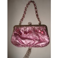 METALLIC PINK MINI PURSE