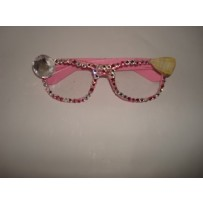 Pink Studded Eye Glass