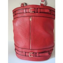 Ruby Leather Red Tote handbag